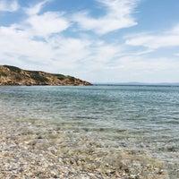 Photo taken at Tuzburnu Plajı by Basak on 7/7/2016