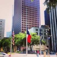Photo taken at Tranquility Park by Jerry P. on 6/3/2013