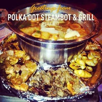 Photo taken at Polka Dot Steambot & Grill by Bond S. on 7/8/2013