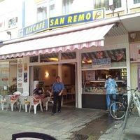 Photo taken at Eiscafe San Remo by Björn Sigurd K. on 8/28/2013