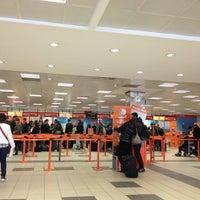 Photo taken at Berlin Schönefeld Airport (SXF) by Charlotte L. on 4/21/2013