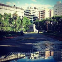 Photo taken at Plaza San Martín by Cesar Pablo M. on 11/17/2013