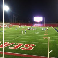 Photo taken at Kenneth P. LaValle Stadium by Scott M. on 11/25/2012