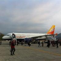 Photo taken at Paro International Airport (PBH) by Nobara F. on 3/26/2013