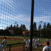 Photo taken at Dedeaux Field by Adrian M. on 5/4/2013