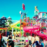 Photo taken at Six Flags Hurricane Harbor by Mai O. on 7/27/2015
