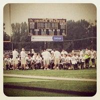 Photo taken at Avon High School Oriole Stadium by Brian C. on 8/31/2013