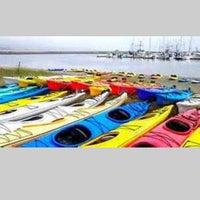 Photo taken at Half Moon Bay Kayak Co. by Kathy J. on 8/21/2013