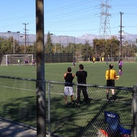 Photo taken at Griffith Park - Artificial Turf Soccer Field by Alexander G. on 10/5/2013