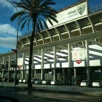 Photo taken at Estadio La Rosaleda by Tamara H. on 11/30/2012
