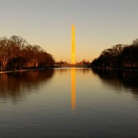 Photo taken at Lincoln Memorial Reflecting Pool by Ishtiaque M. on 1/19/2013