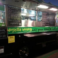 Photo taken at Dogzilla Hot Dogs Truck by Bryan R. on 10/4/2012