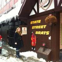 Photo taken at State Street Brats by Tiffany W. on 2/9/2013
