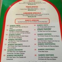 Rudy S Mexican Food Menu