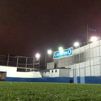 Photo taken at CJU Soccer 5 by Cristian S. on 1/24/2013