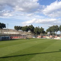 Photo taken at Ciudad Deportiva Real Zaragoza by Javier S. on 4/12/2013