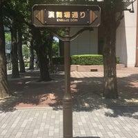 Photo taken at 演舞場通り by takakoji on 7/7/2016