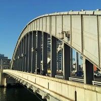 Photo taken at Kachidoki Bridge by yasuzoh on 1/1/2013