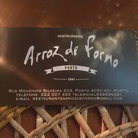 Photo taken at Arroz de Forno by Tiago P. on 2/26/2017