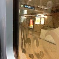 Photo taken at Metro Santa Apolónia [AZ] by Soninha on 3/5/2013