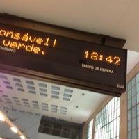 Photo taken at Metro Santa Apolónia [AZ] by Soninha on 2/21/2013