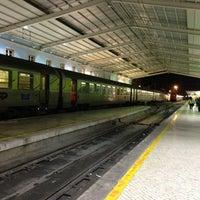 Photo taken at Metro Santa Apolónia [AZ] by Soninha on 1/2/2013