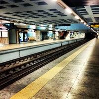 Photo taken at Metro Santa Apolónia [AZ] by Soninha on 3/6/2013