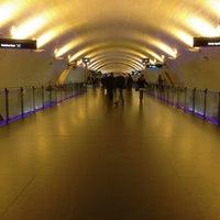 Photo taken at Metro Baixa-Chiado [AZ,VD] by Soninha on 1/30/2013