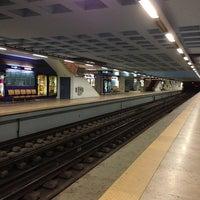 Photo taken at Metro Santa Apolónia [AZ] by Soninha on 3/14/2013