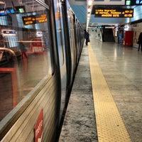 Photo taken at Metro Santa Apolónia [AZ] by Soninha on 2/26/2013