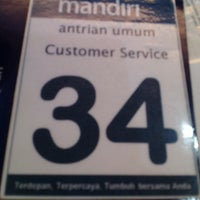 Photo taken at Bank Mandiri by umminya a. on 8/31/2015