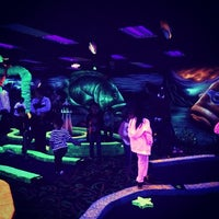 Photo taken at Oceans 18 Glow in the Dark Mini Golf by Oceans 18 on 3/27/2014