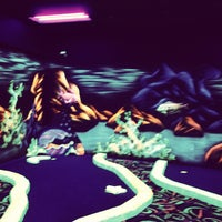 Photo taken at Oceans 18 Glow in the Dark Mini Golf by Oceans 18 on 5/11/2013