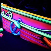Photo taken at Oceans 18 Glow in the Dark Mini Golf by Oceans 18 on 5/16/2013