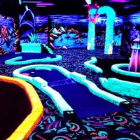 Photo taken at Oceans 18 Glow in the Dark Mini Golf by Oceans 18 on 10/7/2013