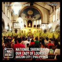 Photo taken at National Shrine of Our Lady of Lourdes by JayTea C. on 3/24/2013
