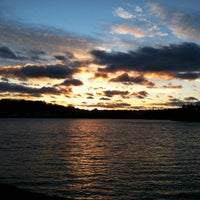 Photo taken at Chestnut Hill Reservoir by Micah W. on 12/22/2012