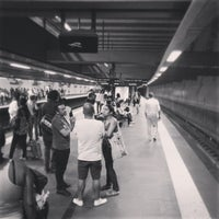 Photo taken at Metro Cais do Sodré [VD] by Kader B. on 7/17/2013