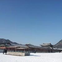 Photo taken at Gyeongbokgung by Ashley C. on 12/8/2012