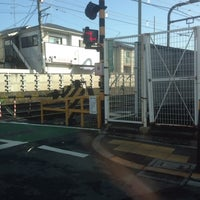 Photo taken at 千歳烏山4号踏切 by jun t. on 3/18/2013
