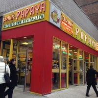 Photo taken at Papaya King by Jesus C. on 3/1/2013