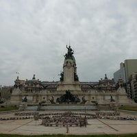 Photo taken at Plaza del Congreso by Alfonso M. on 4/27/2013