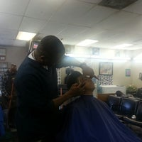 """Photo taken at Lou's Barber Shop by Dallen """"Mike"""" G. on 4/20/2013"""