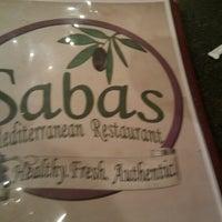 Photo taken at Sabas Mediterranean Restaurant by Jake from State Farm on 11/16/2012
