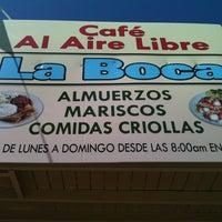 Photo taken at Cafe al Aire Libre, La Boca by Jann C. on 3/24/2013
