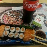 Photo taken at Sushi Kiosk by Fahreza K. on 4/10/2016
