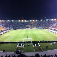 Photo taken at Estádio Municipal Paulo Machado de Carvalho (Pacaembu) by Camila T. on 6/2/2013