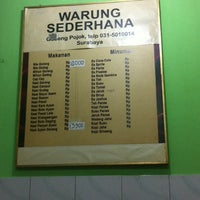 Photo taken at Warung Sederhana by A H. on 9/17/2014