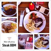 Photo taken at Steak BBM by A H. on 3/28/2015