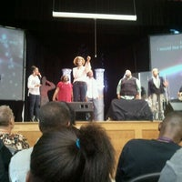 Photo taken at Impact Church [Brown Middle School] by Karen R. on 11/11/2012